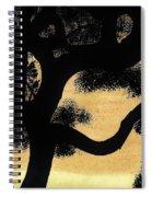 Sunset Through The Oak Trees Spiral Notebook