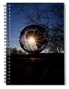 Sunset Through The Unisphere Spiral Notebook