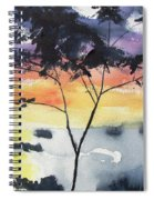 Sunset Tree Koh Chang Thailand Spiral Notebook