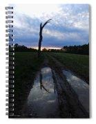 Sunset Treeflection Spiral Notebook