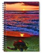 Sunset Turtle By Diana Sainz Spiral Notebook