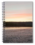 Sunset Twilight Over Taiga At Yukon River Canada Spiral Notebook