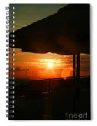 Sunset Under The Umbrella By Diana Sainz Spiral Notebook