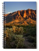 Sunset View Of The Superstitions  Spiral Notebook