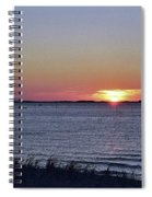Sunset Walk Along The Beach Spiral Notebook