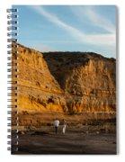 Sunset Walk At Flat Rock  La Jolla California Spiral Notebook