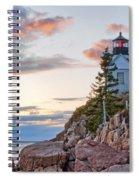 Sunset Watcher - Bass Harbor Head - Maine Spiral Notebook