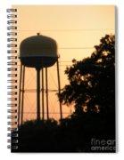 Sunset Water Tower Spiral Notebook