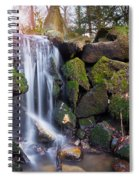 Sunset Waterfalls In Marlay Park Spiral Notebook
