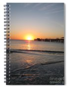 Fishingpier Sunset Spiral Notebook
