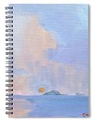 Sunset With Rain Spiral Notebook