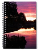 Sunset With Reflection Spiral Notebook