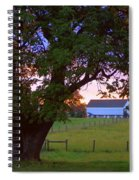 Sunset With Tree Spiral Notebook