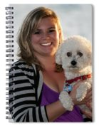 Sunset With Young American Woman And Poodle Spiral Notebook