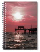 Sunsetting On The Gulf Spiral Notebook