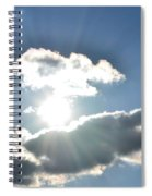 Sunshine Clouds Spiral Notebook