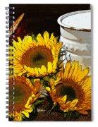 Sunshine From The Garden Spiral Notebook