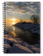 Sunshine On The Ice - Lake Ontario Toronto Canada Spiral Notebook