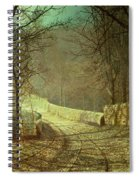 Sunshine Through Winter Trees Spiral Notebook