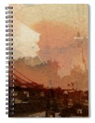 Sunsrise Over Brooklyn Bridge Spiral Notebook