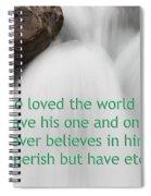 Sunwapta Waterfall John 316 Spiral Notebook