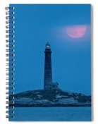 Super Moon Over Thacher Twin Lights Spiral Notebook