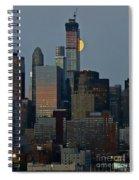 Super Moon Rising Spiral Notebook