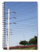 Super Power Pole And Wires Spiral Notebook