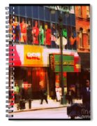 Superheroes Of New York - Midtown In Gotham City Spiral Notebook