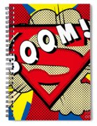 Superman Boom  Spiral Notebook
