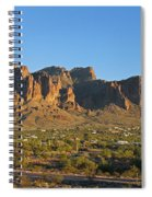 Superstition Mountain In The Evening Sun Spiral Notebook