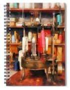 Supplies In Tailor Shop Spiral Notebook