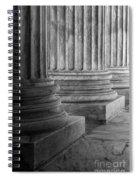 Supreme Court Columns Black And White Spiral Notebook