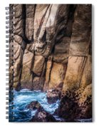 Surf And Cliff Spiral Notebook