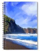 Surf At Pololu Valley Big Island Spiral Notebook
