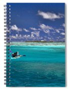 Surf Board Paddling In Moorea Spiral Notebook