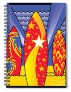 Surf Boards Retro Art Deco Spiral Notebook