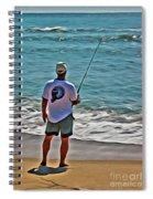 Surf Fishing Spiral Notebook