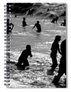 Surf Swimmers Spiral Notebook