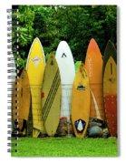 Surfboard Fence Maui Spiral Notebook