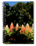 Surfboard Fence - Right Side Spiral Notebook