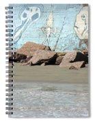 Surfer Beach 1034b Spiral Notebook