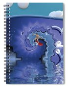 Surfer Boy - Ride The Waves Spiral Notebook