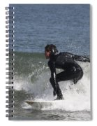 Surfer Hitting The Curl Spiral Notebook