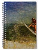 Surfer In Oil Spiral Notebook