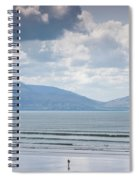 Surfer On The Beach, Inch Strand Spiral Notebook