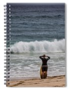 Surfer Checking The Waves Spiral Notebook
