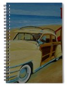 Surfers Woody Spiral Notebook