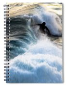 Surfing For Gold Spiral Notebook