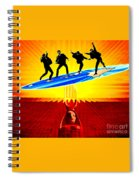 Surfing For Peace Spiral Notebook